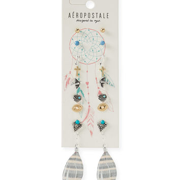 Aeropostale  Feather Stud & Hook Earring 9-Pack