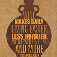 Wine makes daily living easier less hurried by Gayana on Etsy