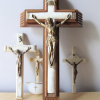 crucifix and cross instant collection vintage sick by ionesAttic