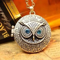 Wholesale Vintage Owl Photo Album Long Necklace