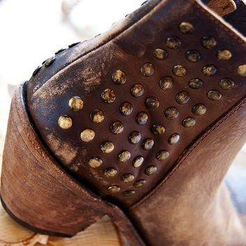 American Tan Short Studded Boots