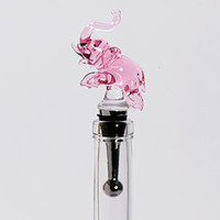 Pink Elephant Bottle Stopper | Z Gallerie