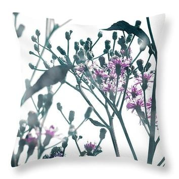 "Vernonia 14"" x 14"" Throw Pillow for Sale by Shawna Rowe"