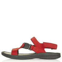 FLAPJACK Sporty Sandals - Red
