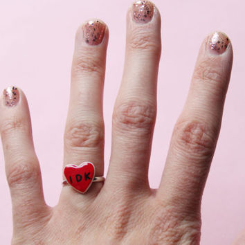 IDK Red Heart Ring