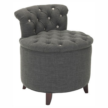 SAVE Safavieh Rebecca Tufted Vanity Stool