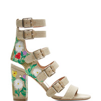 Laurence Dacade Dana Embroidered Linen Sandals Natural