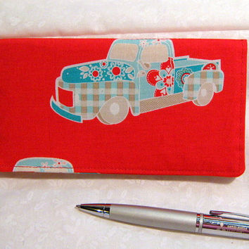 Checkbook Cover For Duplicate Checks Red Truck