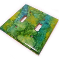 Double light switch cover decorative wall by summittdesigns