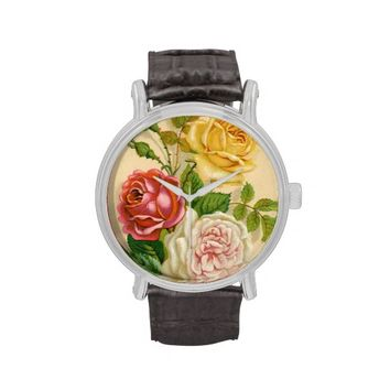 Vintage Rose Illustration Watch