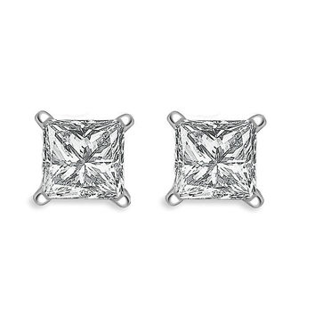 Bella Princess Diamond Studs 3/4ct Steven Singer Jewelers