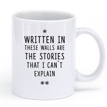written in these walls are the stories mug - 11oz / White