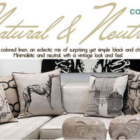 Modern Throw Pillows Natural and Neutral Collection