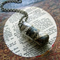 vacuum tube necklace// mad scientist // steampunk jewelry // science geek // secret lab // frankenstein // cosplay // electrode