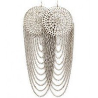 Circular Multi Layered Earrings (Silver)