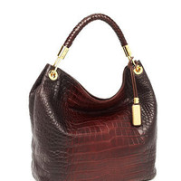 Michael Kors Skorpios Large Shoulder Bag, Crocodile-Embossed Plum - Michael Kors