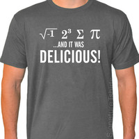 I Ate Some Pie and it was DELICIOUS Eight Sum Pi Math American Apparel T-shirt S-2XL more colors