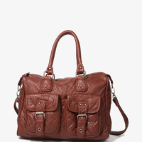 Buckled Pocket Shoulder Bag
