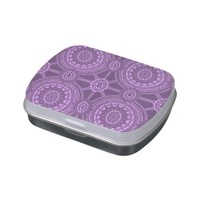 Classic Floral Pattern in Purple