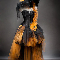 Orange & Black Glam Halloween Costume