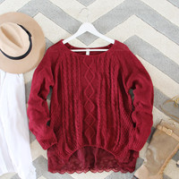 Iced Lace Sweater in Sweetheart