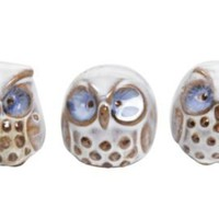 One Kings Lane - Stone Road Vintage - Art Pottery Owls, Set of 3