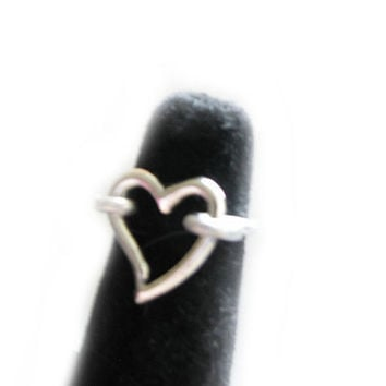 Heart Wire Wrapped Ring Jewelry Any Size birthday wedding