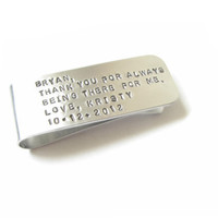 Men Money Clip Personalized Father Gift Keepsake Custom date engrave Accessory Husband Boyfriend Wedding Birthday