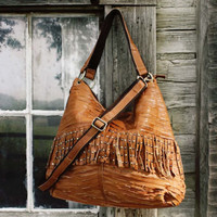 Worn Path Leather Tote, Sweet Bohemian Totes & Bags