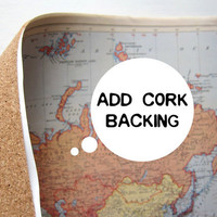 BACKORDERED // Add Natural Cork Roll to Map Purchase