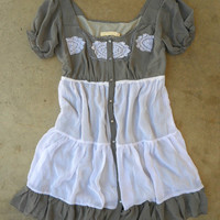 Ruffled Heartland Dress [3045] - $44.00 : Vintage Inspired Clothing & Affordable Fall Frocks, deloom | Modern. Vintage. Crafted.