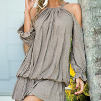 Draped Billow Dress