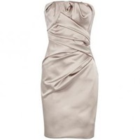 Bqueen Strapless Dress Apricot K212X - Designer Shoes|Bqueenshoes.com
