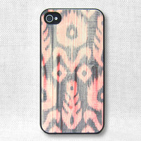 iPhone 4 Case, iPhone Case, iPhone 4S Case - Ikat Wood - 119
