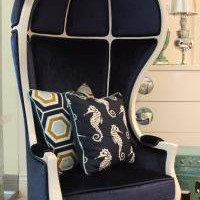 www.roomservicestore.com - Nautical Navy and White Balloon Chair