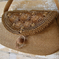 Vintage Italian Straw Purse Adorable Josef 1940s