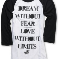 Glamour Kills Girls Dream Without Fear Baseball Tee Shirt at Zumiez : PDP