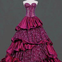 Taffeta/Lace Ball Gown Noble And El.. on Luulla