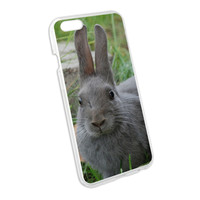 Bunny Rabbit Gray - Easter Snap On Hard Protective Case for Apple iPhone 6