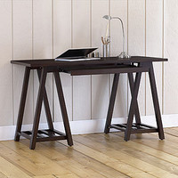 Charles Sawhorse Desk, Espresso | Home Office Furniture| Furniture | World Market