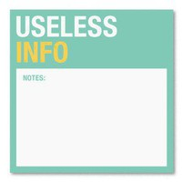Useless Info Sticky ? An Amusing Office Joke Gift by Knock Knock