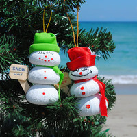 Sea Urchin Snowman Ornaments | OceanStyles.com
