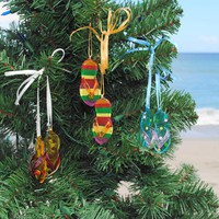 Glass Flip Flop Ornaments | OceanStyles.com
