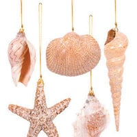 Sea Sparkle Seashell Ornaments | OceanStyles.com