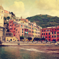 Vernazza harbor Cinque Terre Italy Art Print by Sylvia Cook Photography | Society6
