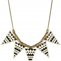 Triangle Aztec Enamel Necklace  - Retro, Indie and Unique Fashion