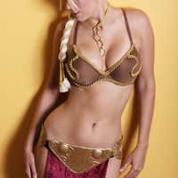 Sci Fi Slave Princess Custom Made Leias Gold Bikini costume SKIRT BOTTOM ONLY