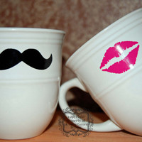 Mustache And Lips Coffee Mugs