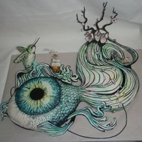 Threadcakes | Flowing Inspiration Threadless cake by Erin Okuno