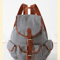Around the World Striped Backpack